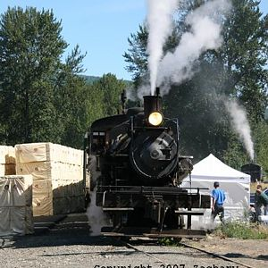 Mount Rainier Scenic Railroad #91 at Morton, Washington