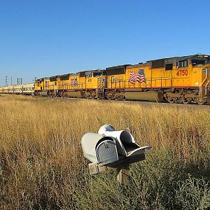 The Ballast Train And The Mail Boxes......