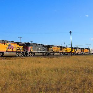 UP 5910 Leaving Town.....