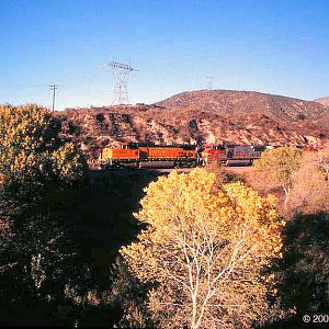 BNSF Westbound through Blue Cut