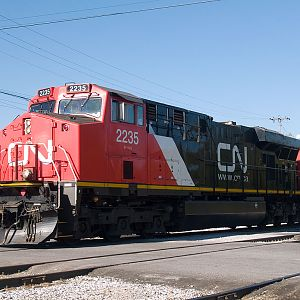 CN2235 crossing Elm Street