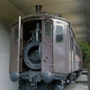 Steam engine car
