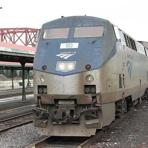 Amtrak #10 on the Portland Section of the Empire Builder.