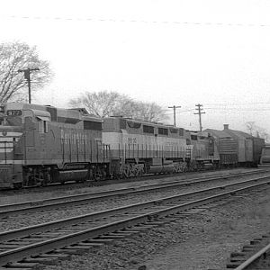 CB&Q GP-30 977, Naperville, IL, Nov. 29, 1963, photo by Chuck Zeiler