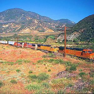 BNSF Decends Through Blue Cut
