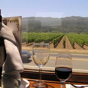 Napa Valley Wine Train from the Vista Dome Car