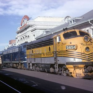 D&RGW F-7 #5654, Denver, CO, Aug. 20, 1964, photo by Chuck Zeiler