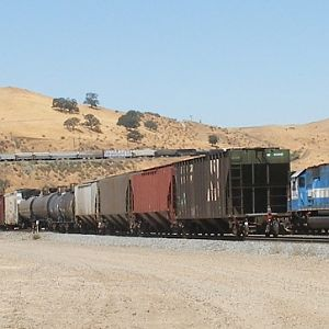 Three trains at and near Caliente