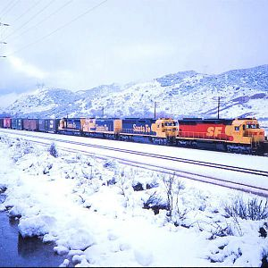 Kodachrome Through Snowy Cajon Station
