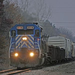 Porter, IN 3116 moves to the main heading west