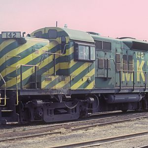 MKT RS-3m 142, Kansas City, KS, April 1980, photo by Chuck Zeiler