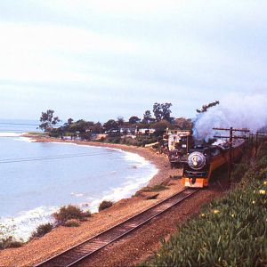 """Tough Guys"" Movie Train - SP Coastline 1986"