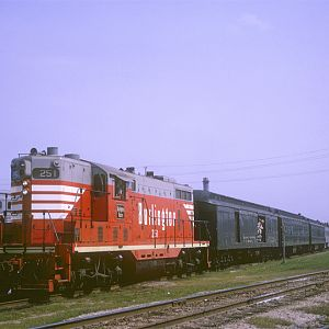 CB&Q GP7 251, Aurora, IL, June 20, 1965, photo by Chuck Zeiler