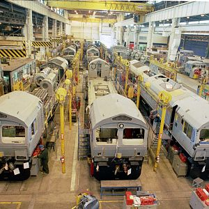 Class 66 production at GM-EMD