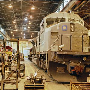 SD9060 under construction at GM-EMD