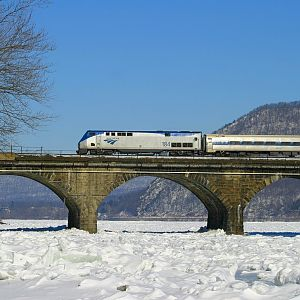 Amtrak's The Pennsylvanian at Rockville Bridge