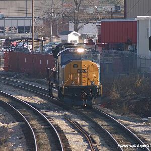 Looking for Work - CSXT 4718 - SD70MAC - M.J. Scanlon