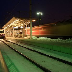 Freight train passing Mdling (Vienna)
