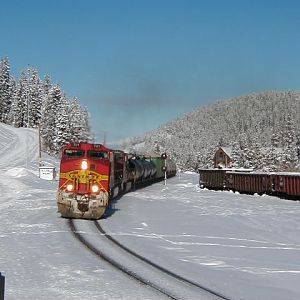 BNSF SF 701 at  Winter Park Ski Area