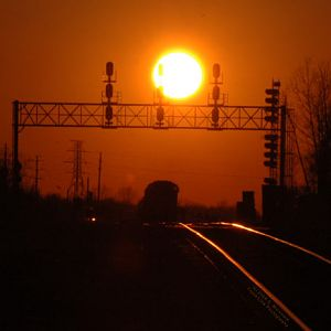April Sunset at Tunnel Yard