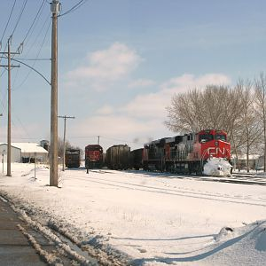 CN 2246 and 6011 and caboose 79500