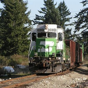 BNSF #2820 on the Lakeview Subdivision.