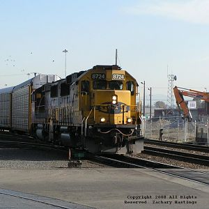 BNSF #8724 at D St. in Tacoma, Washington