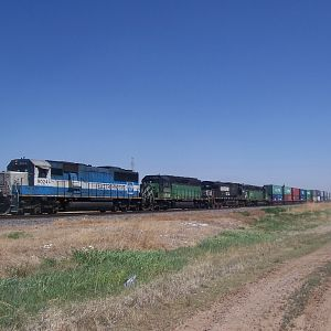 Westbound at CP West Amarillo