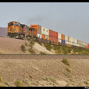 BNSF West bound on the transcon at Siberia, Ca