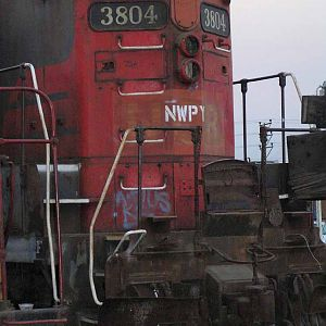 OLD NWP AND NC RR GP-9 LOCOMOTIVE #3804