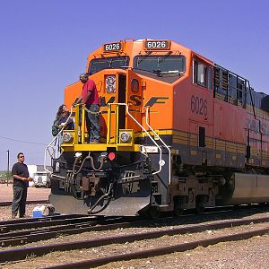 BNSF Crew Change At Cheyenne...