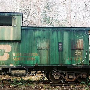 Old Forgotton BN Caboose