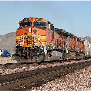 BNSF manifest on the Needles Subdivision