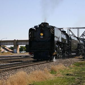 UP 844 and 3985 doubleheaded from Cheyenne WY to Denver CO
