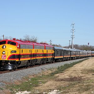 KCS 1 Christmas train - Plano TX