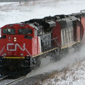 CN 401 with new SD70M-2