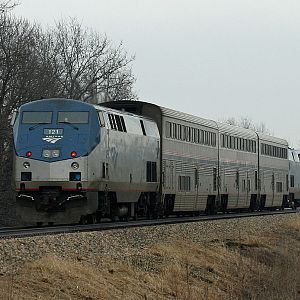 Amtrak 350 east of Decatur, MI
