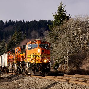 BNSF 4536 South at Tenino Washington.