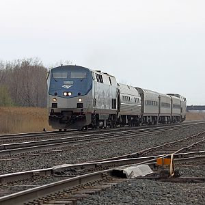 Amtrak Blue Water train 364 east on NS Pine Jct, IN