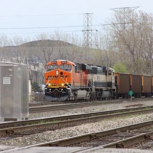 WB BNSF coal train ES44AC No. 6273  on CSX at Dolton, IL