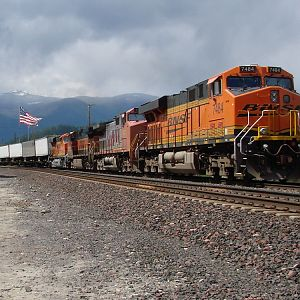 "Eastbound ""Z"" thru Bonners Ferry,ID"