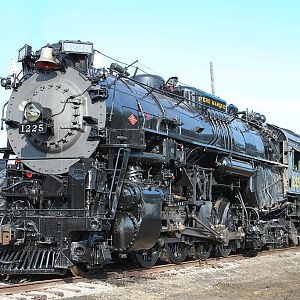 Pere Marquette 2-8-4 Steam Locomotive No.1225 Train Festival 2009