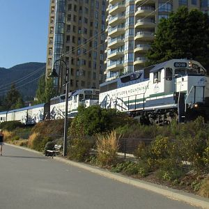 Whistler Mountaineer along the Sea Wall