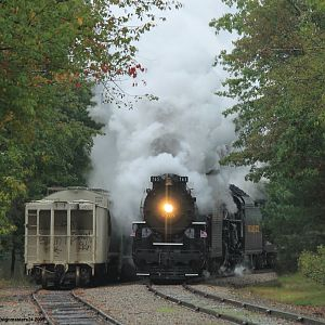 NKP 765 and PM 1225 double head Lake George, MI