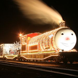 KCS Holiday Train at Night
