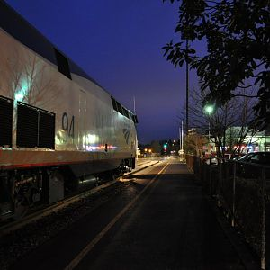 Amtrak 1008 ready to highball Edmonds, WA