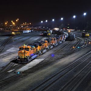 BNSF Under the Lights
