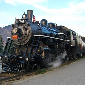 "2141 ""Spirit of Kamloops"" at Kamloops Station"