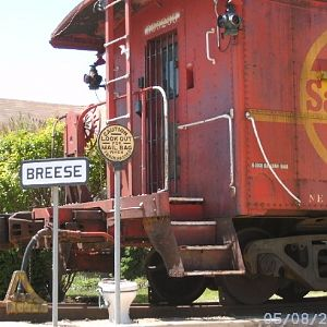 Closeup of end of caboose, SF-CMNW 999269