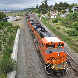 NB coal train at Mukilteo, WA